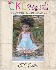 Hyacinth's Spring Dress and Romper in Doll Sizes PDF Pattern