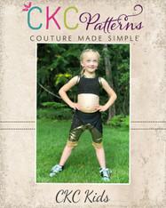 Yarley's Crop Top Sizes 2T to 14 Girls PDF Pattern
