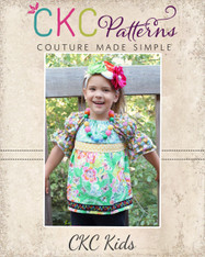 Vivian's Peasant Top with Attached Sash PDF Pattern