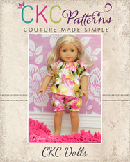 Abby's Night Gown and Bloomers Set Doll Size PDF Pattern