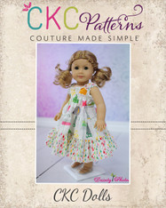 Brooklyn's Tiered Sundress Doll Size PDF Pattern