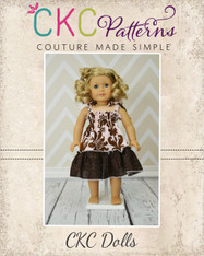 Faith's Shirred Sundress Doll Size PDF Pattern