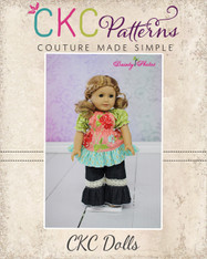 Felicity's Peasant Top & Jenna's Pants and Capris Doll Size PDF Pattern