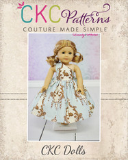Paris' Party Dress Doll Size PDF Pattern