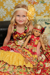Paired with matching girls Penelope's Princess Dress
