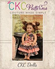 Primrose's Ruffled Corset Princess Dress Doll Size PDF Pattern