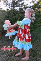 Paired with girls Rosanna's Corset Peasant Dress