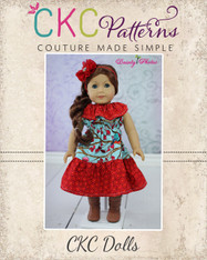 Rose's Ruffle Neck Dress Doll Size PDF Pattern