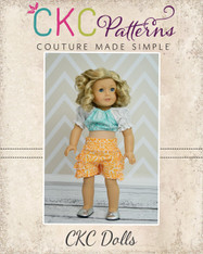 Carrie's Crop Top & Sage's Sailor Bottoms Doll Size PDF Pattern