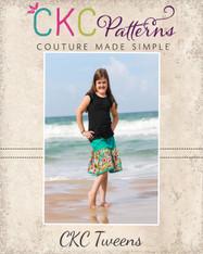Lindsey's Tween Sweet Twirly Skirt PDF Pattern