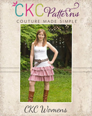 Amanda's Women's Triple Ruffle Skirt PDF Pattern