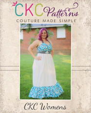 Peony's Women's Sweetheart Maxi Dress PDF Pattern