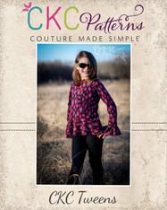 Heidi's Tween Hi-Low Peplum Shirt PDF Pattern