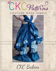 Sophia's Baby Open Back Ruffled Dress PDF Pattern