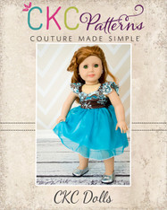 Bethany's Fancy Party Dress Doll Size PDF Pattern