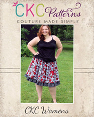 Antoinette's Women's Plus Double Layer Twirly Skirt PDF Pattern