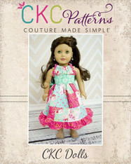 Claire's Patchwork Pillowcase Dress & Harper's Pillowcase Top Doll Size PDF Pattern