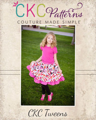 Antoinette's Tween Double Layer Twirly Skirt PDF Pattern