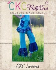 Nicolette's Tween Double Ruffle Pants and Capris PDF Pattern