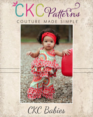 Kara's Baby Triple Ruffle Pants and Capris PDF Pattern