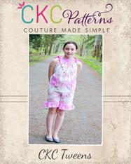 Layne's Tween Ruffle Shorts PDF Pattern