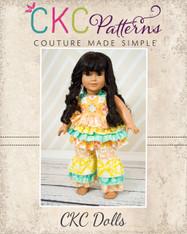 Kiki's Top & Kara's Pants Doll Size PDF Pattern