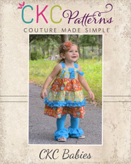 Aubrey's Baby Tiered Ruffle Knot Dress PDF Pattern