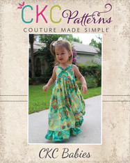 Ivy's Baby Criss Cross Ruffle Top, Sundress, and Maxi Dress PDF Pattern