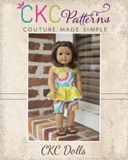Farrah's Peplum Romper Doll Size PDF Pattern