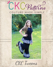 Jessica's Tween Knit Ruffle Pants and Capris PDF Pattern