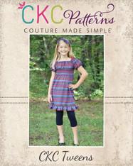 Kayla's Tween Knit Ruffle Top and Dress PDF Pattern