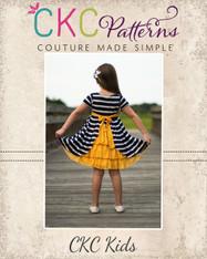 Jeanette's Ruffle Back Knit Dress PDF Pattern