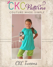 Abby's Tween Night Gown and Shorts/Capris Set PDF Pattern