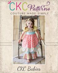 Cienna's Baby Stripwork Ruffle Pants and Capris PDF Pattern