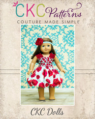 Teagan's Fitted Bubble Dress Doll Size PDF Pattern