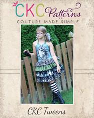 Stacy's Tween Sassy Ruffle Skirt PDF Pattern