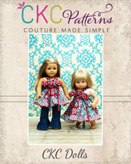 Grace's Twirly Center Knot Dress and Top Doll Size PDF Pattern