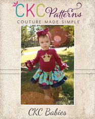 Antoinette's Baby Double Layer Twirly Skirt PDF Pattern