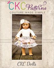 Elliette's Boutique Apron Skirt Doll Size PDF Pattern