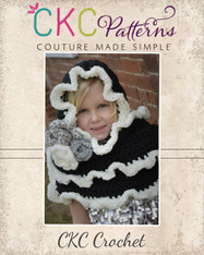 Etta Pocket Pixie Scarf Crochet PDF Pattern