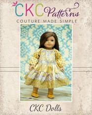 Trinity's Tiered Twirly Dress for Dolls PDF Pattern