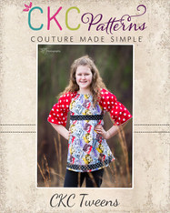 Vivian's Tween Peasant Top with Attached Sash PDF Pattern