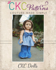 Hattie's Simple Bow Top, Dress, and Maxi Doll Sizes PDF Pattern