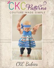 Viola's Baby Cotton Ruffled Top & Sun Dress PDF Pattern