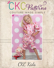 Abby's Night Gown and Bloomers Set Sizes 6/12m to 15/16 Girls PDF Pattern