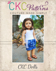 Brewster's Bubble Pocket Skirt Doll Sizes PDF Pattern