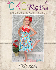 Amber's Girls and Tweens Simple Halter Top and Dress PDF Pattern