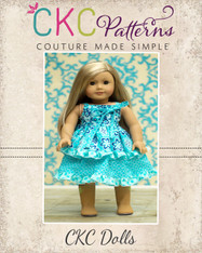 Riley's Redesigned Knot Dress Doll Size PDF Pattern