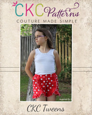 Kristine's Tween Ruffled Shorts PDF Pattern