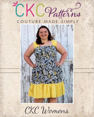 Faith's Women's Plus Shirred Sundress PDF Pattern